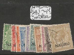 Nauru SG 1, 2, 4, 6-12 VFU (8coh)