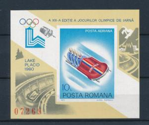 [60974] Romania 1979 Olympic games Lake placid Bobsleigh MNH Sheet