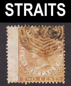 Malaya Straits Settlements Scott 10 wtmk CC F to VF used. Octogonal cancel.