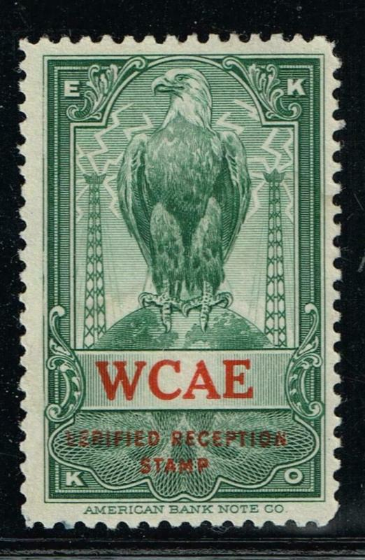 USA  - EKKO -  WCAE - Pittsburgh, PA - Verified Reception Stamp $19.95