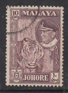 Malaya Johore 1960 Sc 163 10c Used