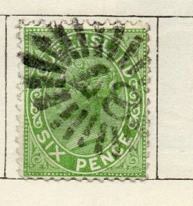 Queensland 1879 Early Issue Fine Used 6d. NW-113690