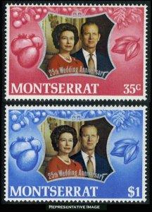Montserrat Scott 286-287 Mint never hinged.