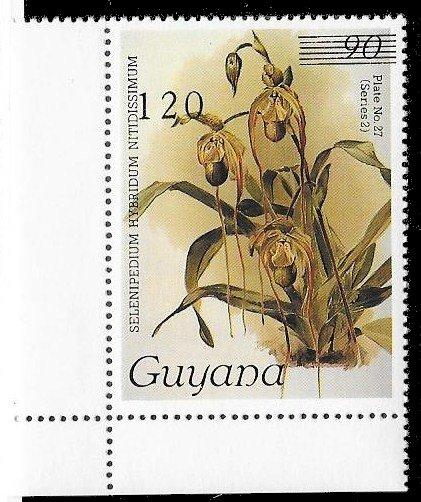 GUYANA Orchid Sc#1699 Mint Never Hinged Unvalued in Catalog