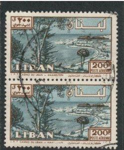 Lebanon Airmail # C302 , Maameltein Casino , F-VF used Pair - I Combine S/H