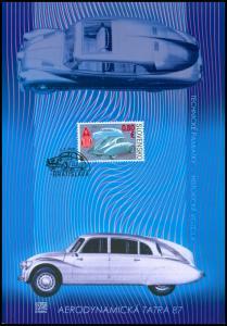 SLOVAKIA / 2011, (Colle. Sheet) Veteran Motor Cars – Aerodynamic Tatra 87, MNH