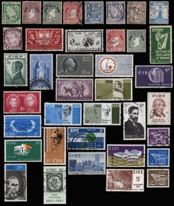 IRELAND Nice Collection of 38 Used Stamps-CV>$34 Mostly 20s-60s-Inc Sc 67,73,110