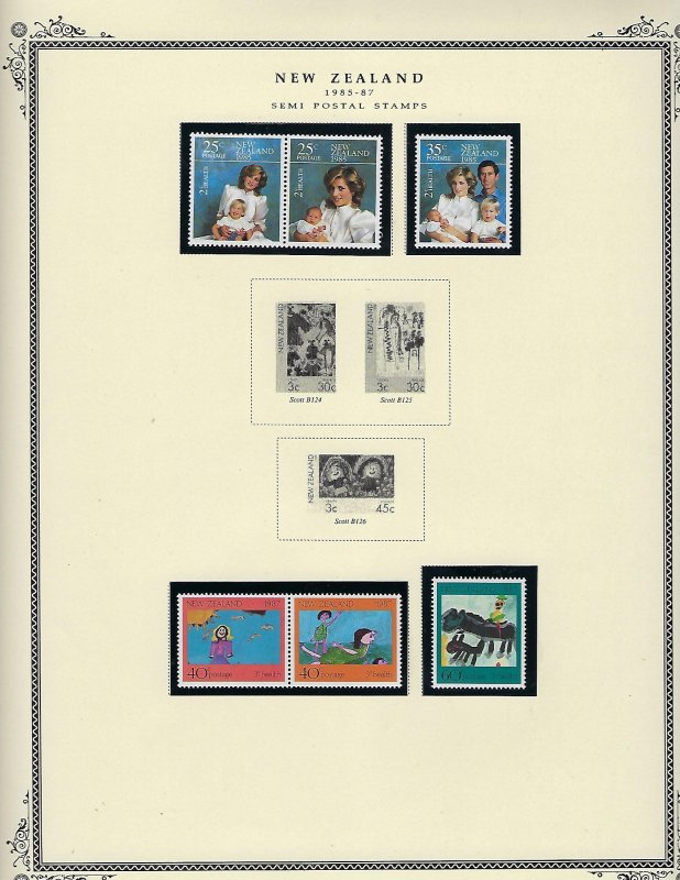NEW ZEALAND ALMOST COMPLETE SEMIPOSTALS 1929-1991 MINT LH/NEVER HINGED