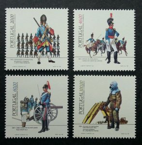 Portugal Portuguese Military Uniforms - Army 1985 Soldier Horse Bom (stamp) MNH