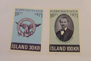 1971 Island SC #433-34  MH stamps