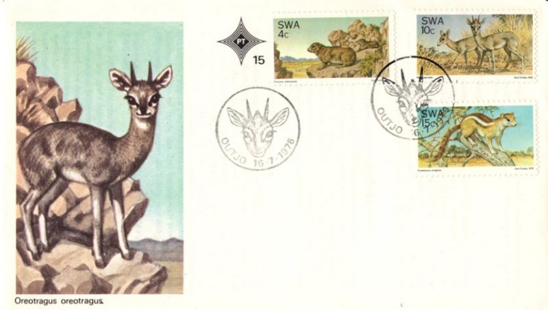 SWA - 1976 Nature Conservation FDC SG 290-292