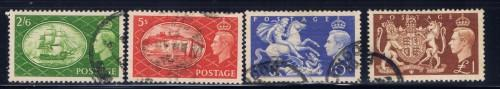 Great Britain 286-89 Used 1951 set
