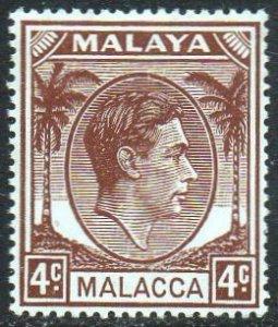 Malacca 1949 4c brown MH