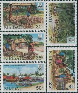 Kiribati 1983 SG205-209 Copra set MNH