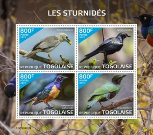 Togo Stamps 2019 .- Starlings (Sturnia malabarica; Aplonis metallica; Lamprotorn