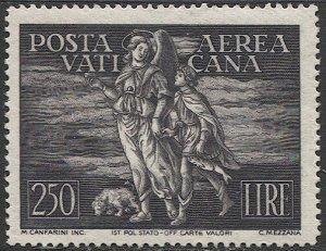VATICAN CITY Italy 1948  Sc C16  MNH 250L Archangel Raphael, Scv $55