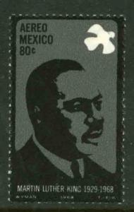 MEXICO C339 In Memory of Martin Luther King. MINT, NH. F-VF.