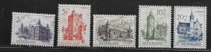 NETHERLANDS, B224-B228, MINT HINGED , CASTELS