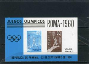 PANAMA 1960 Sc#C313 SUMMER OLYMPIC GAMES ROME S/S IMPERF. MNH