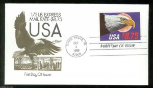 UNITED STATES 1988 $8.75 1/2 LB.  EXPRESS  MAIL ARTMASTER UN-ADDRESSED FDC