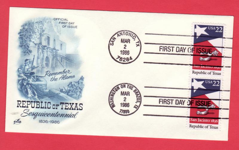 #2204 Republic of Texas -Dual cxls Artcraft Blue Cachet