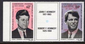 Apollo 11 Overprint Cameroun 1969 JFK-RFK Kennedy Pair MNH CV$135
