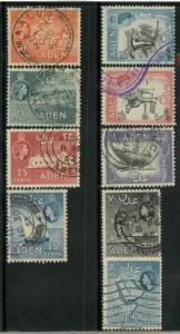 Aden 49-54, 55A, 57A, 58 Used VF