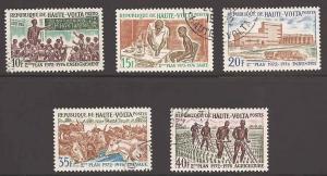 Burkina Faso 275-279 Used VF