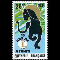 FR.POLYNESIA 1975 - Scott# 285 Lions Intl. Set of 1 NH