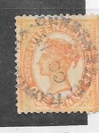 Australia -Queensland #102 1p  Queen Victoria-orange  (U) CV $2.75