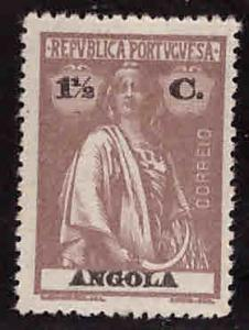 Angola  Scott 122 MH* Ceres stamp with similar centering.