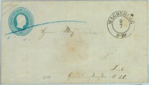 89246 - GERMANY Prussen - Postal History - STATIONERY COVER from Magdeburg # U9