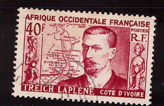 FRENCH West Africa SCOTT 58 used