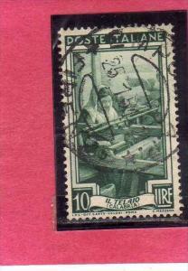 ITALIA REPUBBLICA ITALY REPUBLIC 1950 1951 AL LAVORO LABOUR LIRE 10 USATO USE...