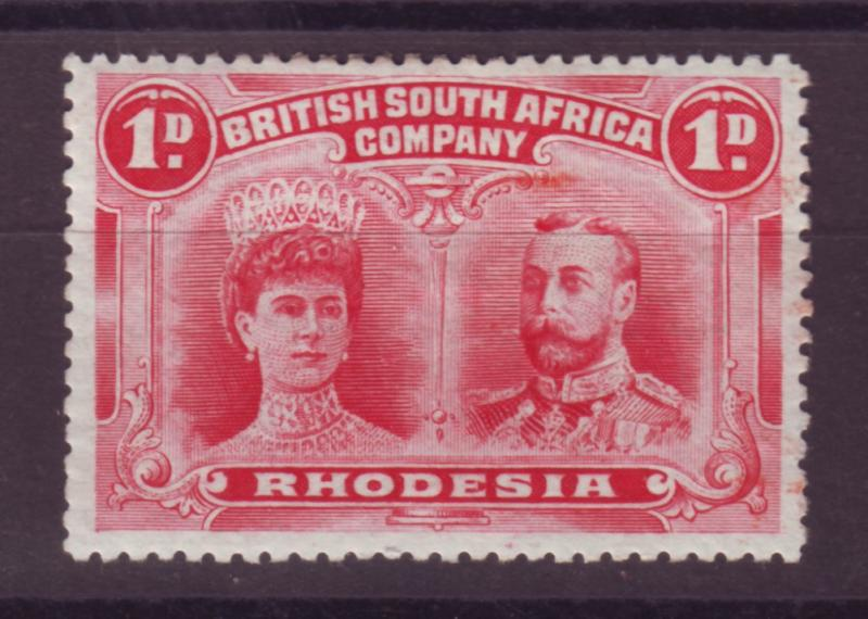 J17083 JLstamps 1910 rhodesia mh #102 king and queen