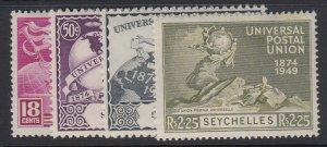 SEYCHELLES, Scott 153-156, MHR