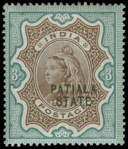 India / Patiala Scott 24 Gibbons 30 Mint Stamp