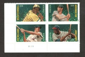 4694-4697B Baseball All-Stars Bottom Plate Block Mint/nh FREE SHIPPING