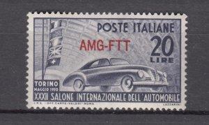 J27601 1950 italy-trieste set of 1 mh #71 car ovpt