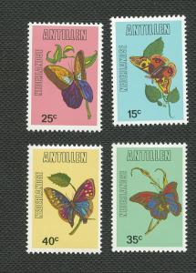 Netherlands Antilles-Scott's # 414-417-Butterflies-MNH