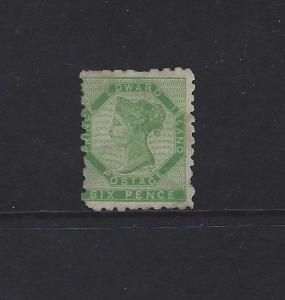 PRINCE EDWARD ISLAND - #3 - 6d QUEEN VICTORIA (1861) MLH