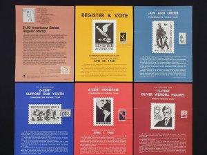 1967,68,79 Vintage USPS Bulletin Board Poster Folded Lot of 10 w/ FDI Cancel