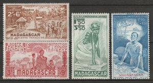 Madagascar 1942 Sc CB2-5 air post set MH*