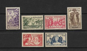 FRENCH SUDAN #106-11 PARIS 1937 EXHIBITION   MNH