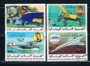 Mauritania 368-71 Used set History of Aviation (M0211)