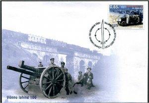 HERRICKSTAMP NEW ISSUES ESTONIA Sc.# 900 Battle of Vonnu FDC