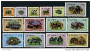 Uganda 1979 FAUNA Definitives issue set (14v) Perforated Mint (NH)