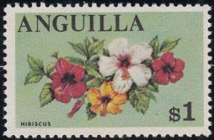 Anguilla 1967-68 MNH Sc #29 $1 Hibiscus
