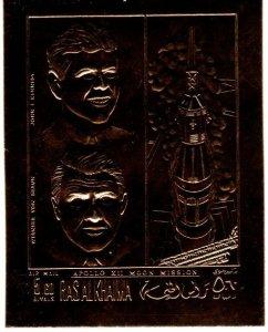 Ras Al Khaima Kennedy Moon Mission Gold Foil (X5525)
