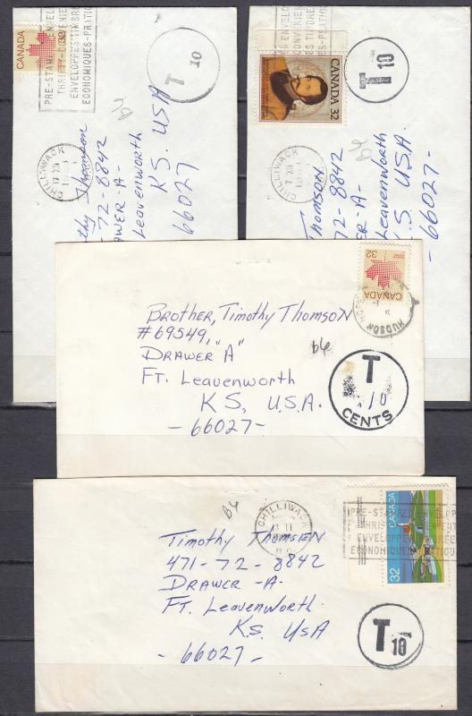 Canada - 1983|1984 Postage Due cover collection (92)